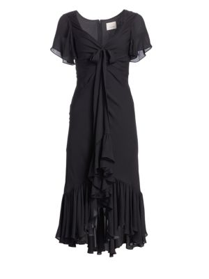Cinq Sept Mateo Ruffle Midi Dress