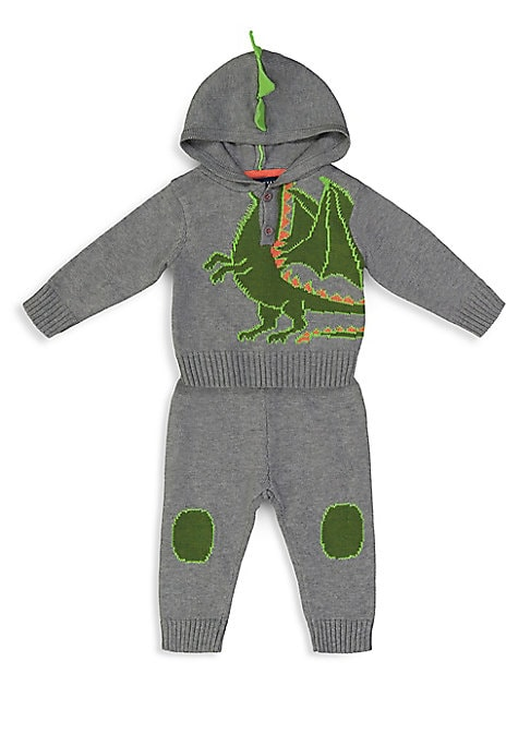 Baby Boys TwoPiece Dragon Sweater Knit Set