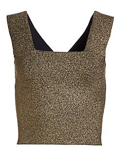 065b5c92814a3c QUICK VIEW. A.L.C.. Lia Metallic Crop Top