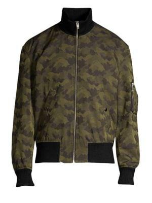 The Kooples Zip-Up Bomber Jacket
