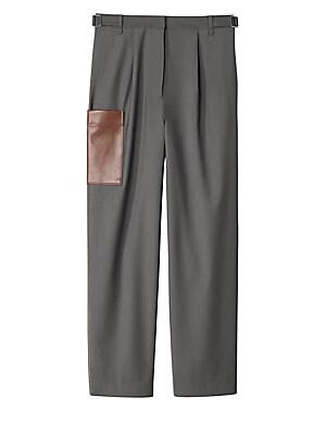Tablier Wool Blend Paperbag Pants by Tibi