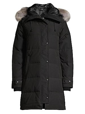 Shelburne Quilted Coyote Fur Trim Parka by Canada Goose