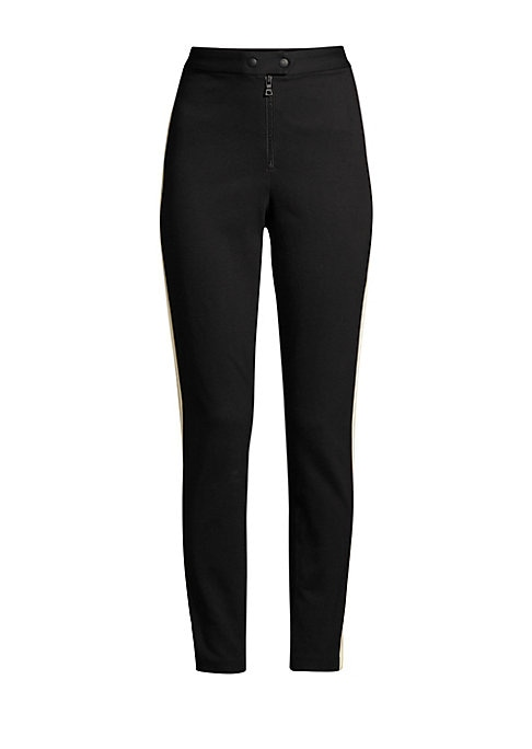 """Image of Contrast side panels define these sleek riding pants with a chic snap button front. Banded waist. Snap-button closure. Zip fly. Lined. Viscose/nylon/elastane. Machine wash. Imported. SIZE & FIT. Slim fit. Rise, about 11.5"""".Inseam, about 29"""".Leg opening, a"""