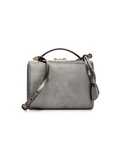 87e94b0cc96f91 Product image. QUICK VIEW. Mark Cross. Small Metallic Caviar Leather Box Bag