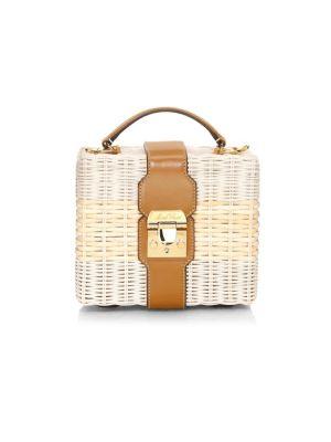 Mark Cross Bags Harley Rattan Basket Weave Top Handle Bag