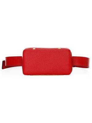 LUTZ MORRIS Leather Belt Bag in Red
