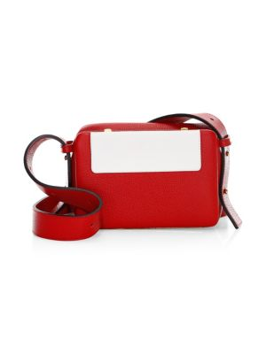 LUTZ MORRIS Intarsia-Front Leather Crossbody in Red