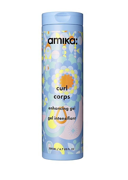 Image of WHAT IT IS. Amika Curl Corps Enhancing Gel is a weather-proofing, curl-boosting gel that gives bouncy shape without the crunch factor. A weather-proofing, curl-boosting gel that gives bouncy shape without the crunch factor. Free of MIT/MCI, formaldehydes,
