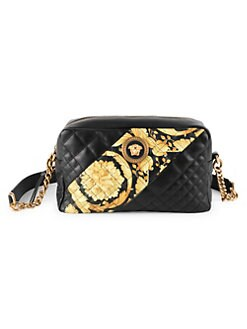 6dee7ecc2d58 QUICK VIEW. Versace. Icon Barocco Stripe Quilted Leather Crossbody Bag