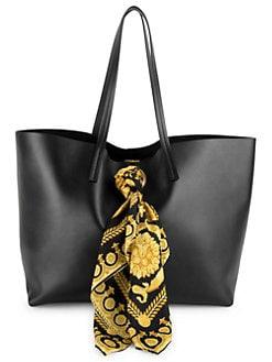 QUICK VIEW. Versace. Barocco Print Scarf Leather Tote Bag 7b611ddd1b36e