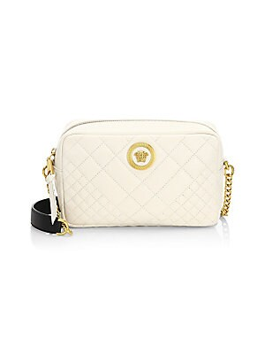 Versace - Small Quilted Icon Shoulder Bag - saks.com 4edfe5c8e5213
