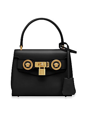 34b284611d8c Versace - Icon Leather Satchel Bag - saks.com
