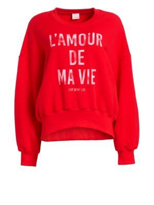 Cinq Sept L Amour De Ma Vie Cotton Sweatshirt