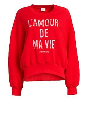 5ed3ccf0 Cinq à Sept - L'Amour De Ma Vie Cotton Sweatshirt - saks.com