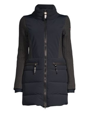 POST CARD Siguan Quilted Parka in Nero
