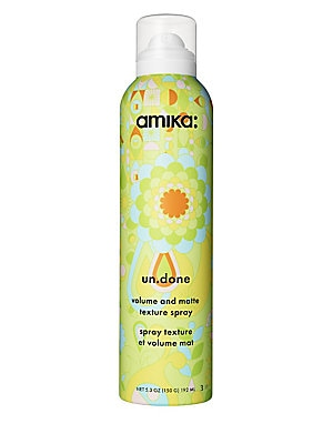 Image of WHAT IT IS Amika Un. Done Volume & Matte Texture Spray utilizes an invisible and dry formulation that delivers beachy hair -sexy, tousled with undone matte texture. For instant volume and perfectly-imperfect texture, this spray is sexy-in-a-bottle. Free o
