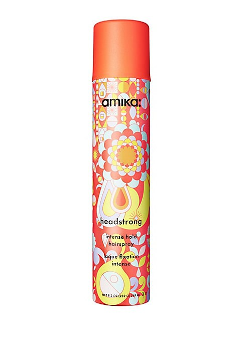 Image of WHAT IT. Amika Headstrong Intense Hold Hairspray delivers a powerful hold in a light, flake-free mist. The fast drying, anti-humidity formula will maximize the life of any masterpiece. Get your style into submission with this fast-drying, freeze-hold fini