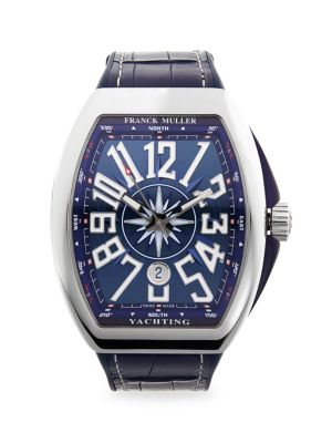 FRANCK MULLER Yachting Vanguard Stainless Steel & Rubber-Strap Watch in Blue