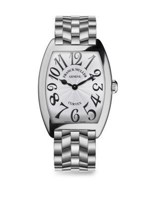 FRANCK MULLER Cintree Curvex Stainless Steel Bracelet Watch in Silver