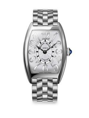FRANCK MULLER Cintree Curvex 35Mm Stainless Steel Bracelet Watch in Silver