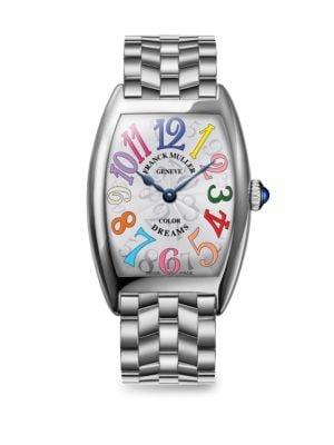 FRANCK MULLER Cintree Curvex 35Mm Color Dreams Stainless Steel Watch in Silver