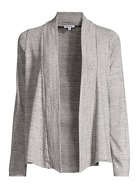 """Image of A wear-anywhere layer, this cotton-blend cardigan boasts open front styling. Shawl collar. Long sleeves. Open front. Polyester/cotton/rayon. Machine wash. Imported of US fabric. SIZE & FIT. About 25.5"""" from shoulder to hem. Model shown is 5'10"""" (177cm) we"""