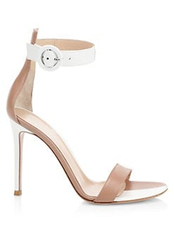 0977b88e4 Gianvito Rossi. Leather Buckled Ankle Strap Sandals