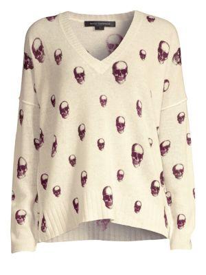 360CASHMERE Skull Cashmere Sweater in Lunar