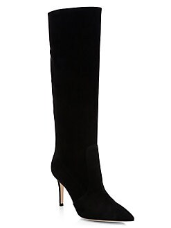 300917621cf Suede Point Toe Tall Boots BLACK. QUICK VIEW. Product image