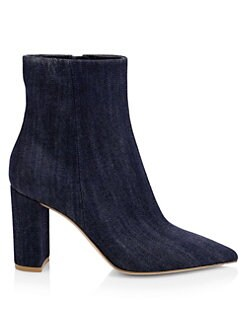 35863bf0f8a8 QUICK VIEW. Gianvito Rossi. Denim Point Toe Booties