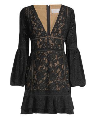 MISHA COLLECTION Harper Lace Dress in Black