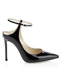 717eedc06cd QUICK VIEW. Gianvito Rossi. Patent Leather Ankle-Strap Sandals