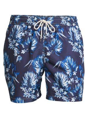 4c34c7f889 Polo Ralph Lauren Men'S Big & Tall Traveler Floral-Print Swim Trunks In  Blue Multi