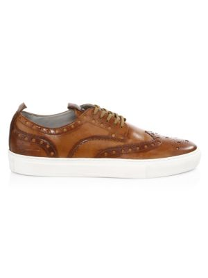 Leather Wingtip Sneakers by Grenson