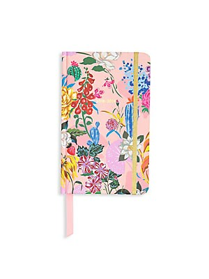 Image of A pretty garden hardcover planner with color-coded month tabs and sticker pages for you to mark all your special to-dos! 100 wood-free paper pages 13-month calendar format Double-sided pocket page Three sticker pages One virtual reality page One coloring