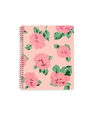 Image of A pretty rose-print hardcover planner with color-coded month tabs and sticker pages for you to mark all your special to-dos! 100 wood-free paper pages 12-month 2019 calendar format Double-sided pocket page Three sticker pages One virtual reality page One