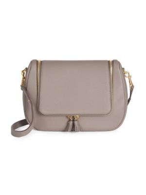 Vere Soft Leather Satchel in Grey