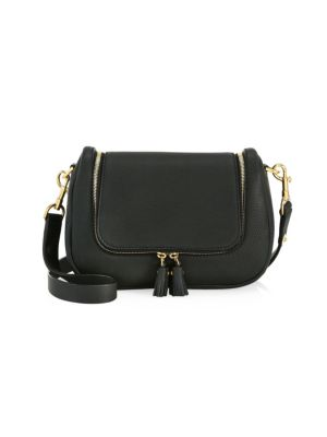 Small Vere Soft Leather Satchel in Black