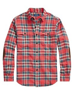 92cd2842 Polo Ralph Lauren. Twill Long-Sleeve Plaid Sport Shirt