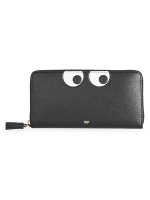 Anya Hindmarch Large Eyes Zip Around Leather Wallet