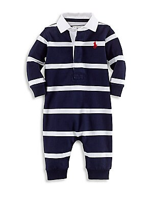 Ralph Lauren - Baby Boy s Striped Cotton Rugby Shortalls - saks.com 713a96c12c0