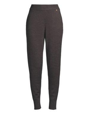 New York Sweater-Knit Jogger Leggings, Charcoal