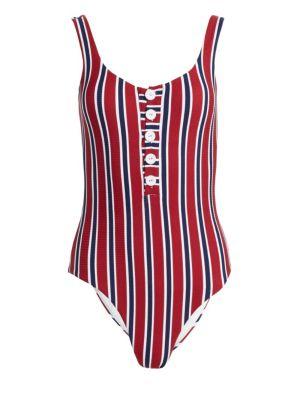 Onia Sandra One-Piece Striped Swimsuit