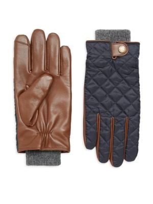 Quilted Field Gloves in Hunter Navy