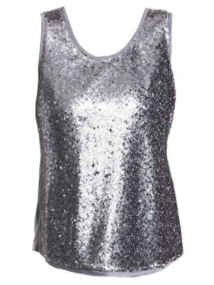 NIC+ZOE PLUS Twinkle Night Tank in Bluestone