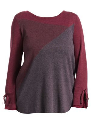 NIC+ZOE PLUS Perfect Angle Top in Currant