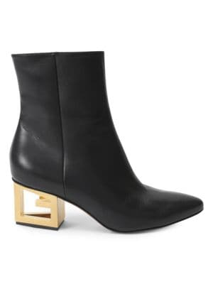 Triangle Logo Heel Ankle Booties by Givenchy