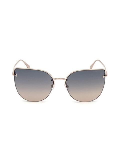 Ingrid 60MM Cat Eye Sunglasses