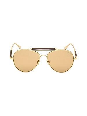 53f6e119b0569 Tom Ford - No. 16 60MM Round Aviator Sunglasses - saks.com