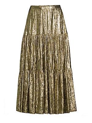 dd7db1b87f9d Michael Kors Collection - Tiered Midi Skirt - saks.com